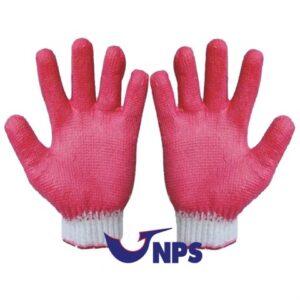 Găng tay phủ cao su đỏ